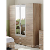 Bedroom Furniture Mirrored Combination 4 Door Wardrobe (WB53)