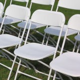 White Foldable Folding Chair for Event Rental