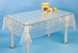 PVC Transparent and Embossed Tablecloth (TJ3D0005)