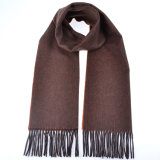 100%Alashan Cashmere Solid Color Scarf Water Ripple Brushing Cashmere Scarf