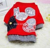 Fashionable Red&Grey Designer Baseball Pet Dog Clothes