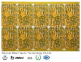 Multilayer Printed Circuit Board PCB with Yellow Solder Mask for Electronics/Machnie
