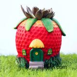 Cute Creative DIY Strawberry Resin Succulent Pots Flowerpots