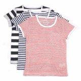 Sheep Run 100% Linen Children′s Striped T-Shirts for Summer