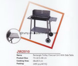 Rectangle Trolley Charcoal Grill with Side Table