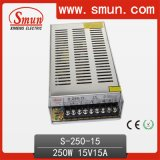 250W 15VDC Single Output Power Supply with CE RoHS