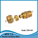 Brass Compression Fitting for Pex Pipe (F03-101)