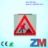 High Luminance Solar Traffic Warning Sign / Road Sign for Construction