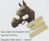Horse Gear Nylon Halter with Sheepskin Sleeve