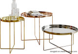 Stainless Steel Frame with Nature Marble Coffee Table