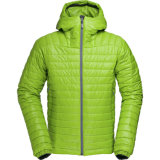 Primaloft 100g Insulated Men′s Hooded Quiltedjacket
