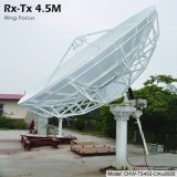 4.5m Rx Tx Earth Station Antenna (Pole Stand, Motorized)