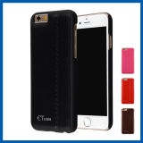 Leather Surface PC Back Hard Cover for iPhone 6 Plus
