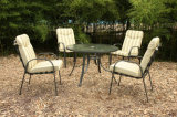 Lounge Dining Table and 4 Chairs Outdoor Garden Furniture (FS-4010+5005)