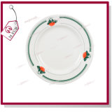 8′′ Plate with Design of Green Strawberry for Sublimation