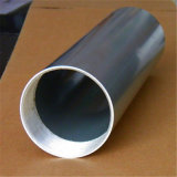 Round Threaded Aluminum Tubing Silver Anodized