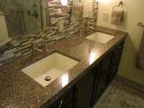 Black Polished Quartz Furniture Bath Vanity for Prefab Homes