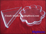High Purity Clear Quartz Glass Petal Tray