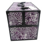Leopard Design Cosmetic Bag Professional Double Open