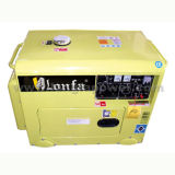 Silent 6kVA Electric Power Portable Diesel Generator with 1 Year Warranty