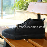 Fashion Style Top Cut Men Black PU Upper Footwear (SNC-03028)