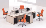 MDF Furniture 4 Person Workstation Glass Cubicle Partition (SZ-WS441)