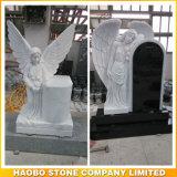 Full Carved Angel Monument Stone
