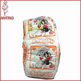 High Quality Baby Diaper with Cotton Backsheet and Magic Tape