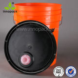 20L 5gallon Paint Bucket with Spout Lid and Specific Pantone Color