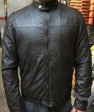Fashion Classic Anti Black Soft PU Leather Jacket for Men (T-J01)