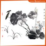 The Lotus Pond Inkjet Printed Chinese Oil Painting for Home Decoration