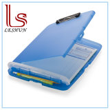 Office Accessories Slim Clipboard Storage Box, Translucent Blue