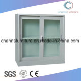 Modern Metal Office Furniture File Cabinet with Glass Door