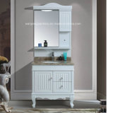 PVC with LED Mirror White Mirror Cabinet Vanity