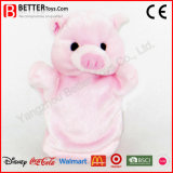 Soft Toy Stuffed Aniaml Plush Pink Pig Hand Puppet