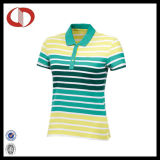 China Short Sleeve Striped Women Wicking Polo Shirts