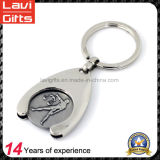 Promotional Supermarket Trolley Token Coin with Key Ring