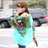 2017 Summer New Design Plus Size Bohemia Women Floral Batwing Chiffon Lager Size Loose Blouse Top Casual Cloths