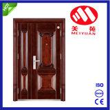 Steel Son-Mother Door with Good Quality, Garden Exterior Door