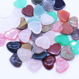 Nature Stone Mixed Color Cabochon 15*18mm Heart Shape Beads