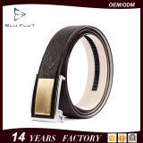 New Fashion Designer Genuine Brown Ostirch Leather Metal Buckle Belts