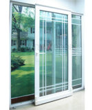 White PVC Sliding Door (P-S-D01)