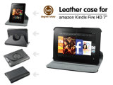 Rotary Leather Case for Kindle Fire HD, 360 Degree, 7 Inch Tablet PC Leather Case