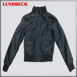 PU Outerwear Jacket for Women with Good Quality