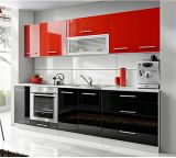 2015 New China Red and Black Water Resistance Glossy Wooden Kitchen Cabinet (colorful)