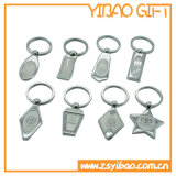 Custom Design Metal Keychain Silver Plated (YB-MK-16)