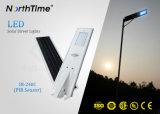 Integrated LED Solar Street Lights with Motion Sensor PIR Automatic Dim