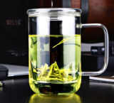 Customized Glass Tea Cup with Filter