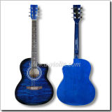 """39"""" Linden Plywood Top with Pattern Colour Acoustic Guitar (AF228)"""