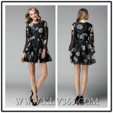 Fashion Women Clothing Floral Spring Long Sleeve Dress
